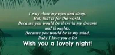 Wishing Her Good Night