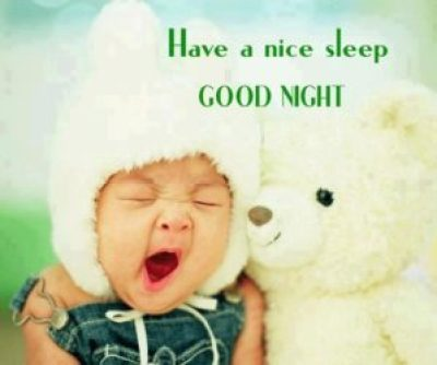 Good Night Cute Baby Image