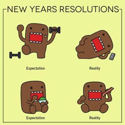 Funny New Year's Resolution List
