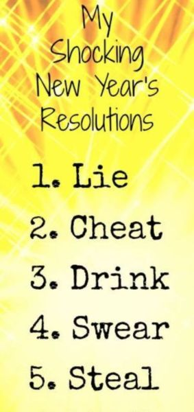 Funny New Year's Resolution Sayings