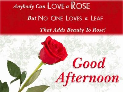 Romantic Good Afternoon Wishes