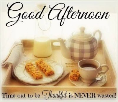 Thankful Good Afternoon Quotes