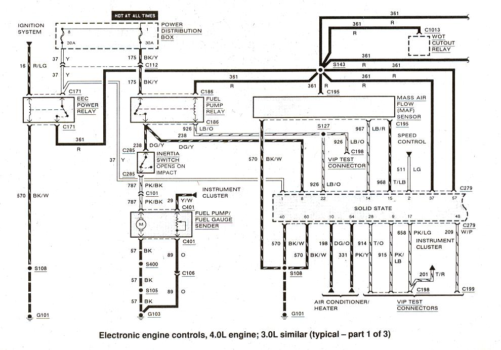 1993 ford taurus wiring diagram