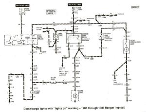 Ford Ranger wiring by color  19831991