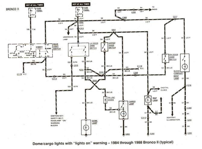 1984 ford bronco wiring diagram  description wiring