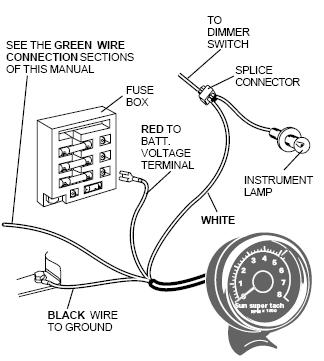 super tach 2 wiring diagram wiring diagram