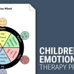 Wheel Of Emotions Children Worksheet Therapist Aid