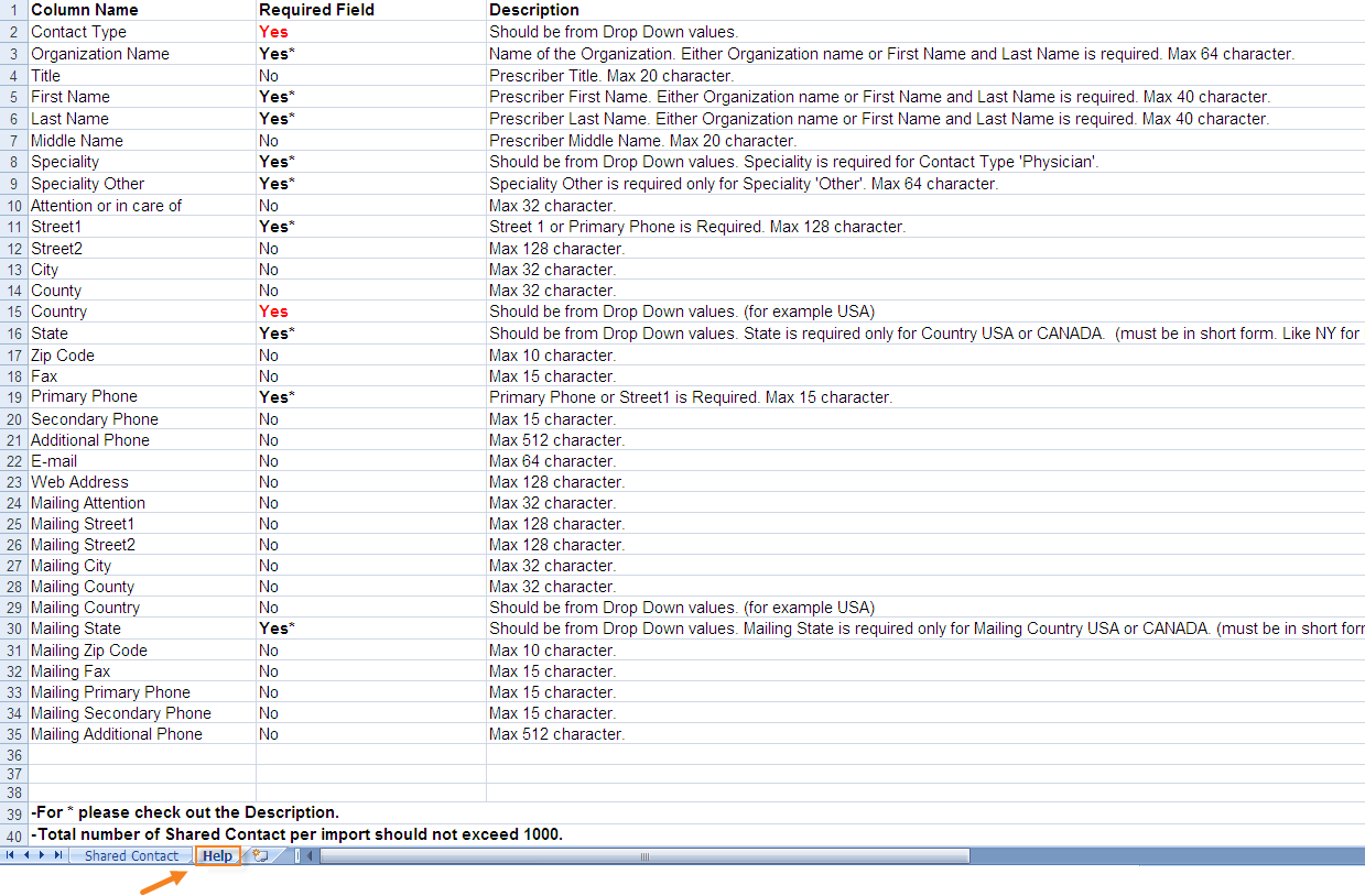 Import Shared Contacts From Excel