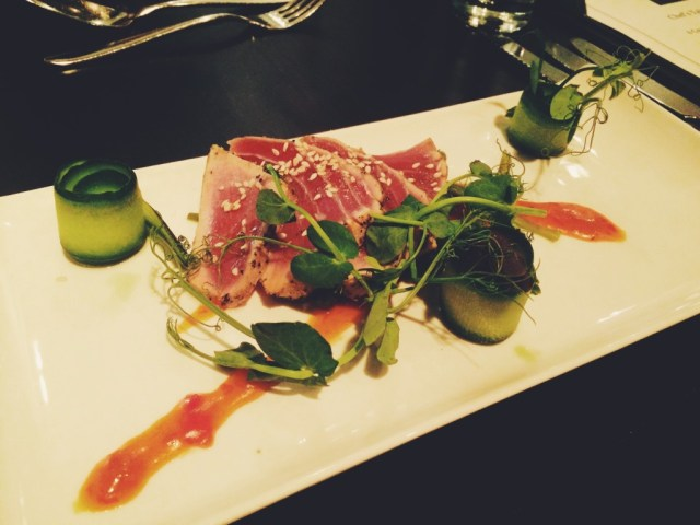 Plate of tuna