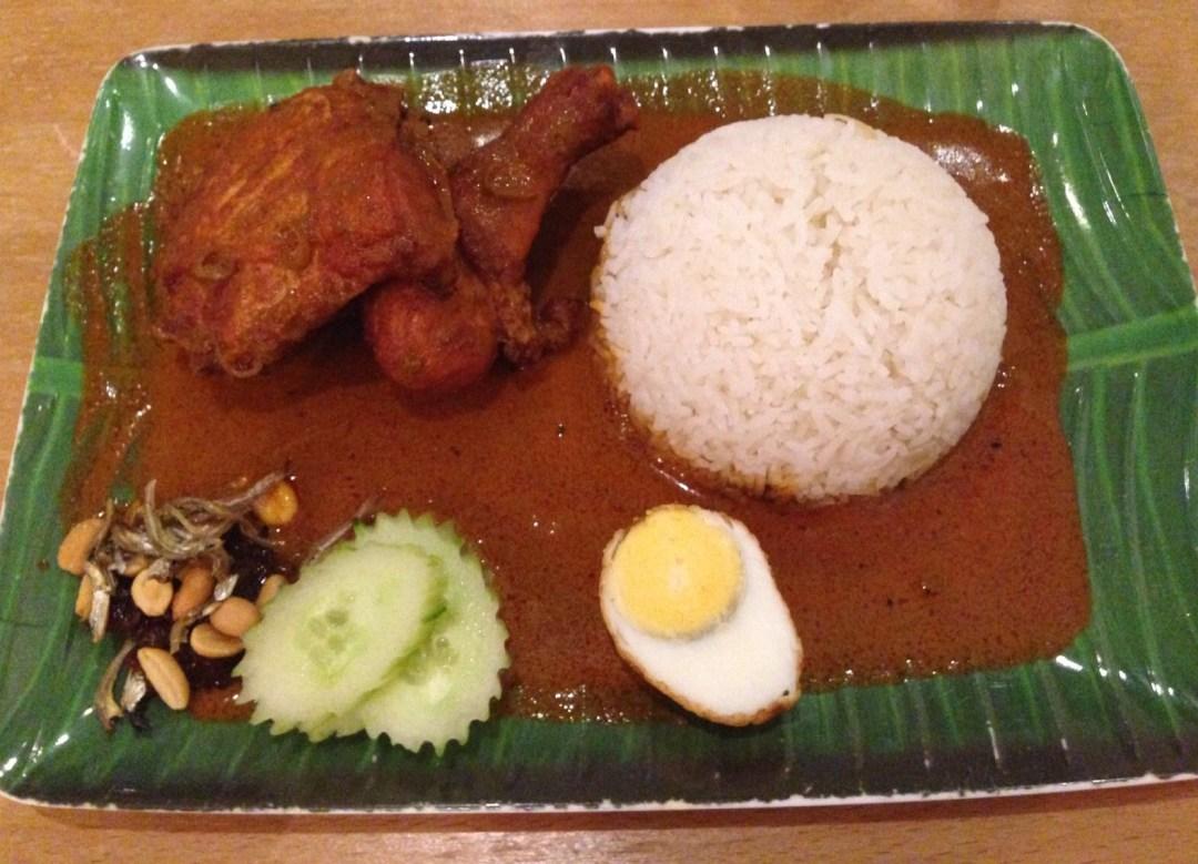 Turmeric fried chicken at Jalan Malaysia, Cardiff