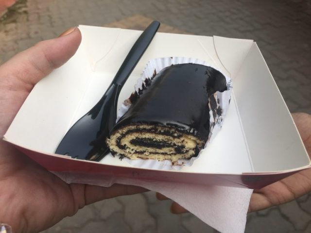 Chocolate truffle roll from Flurrys India