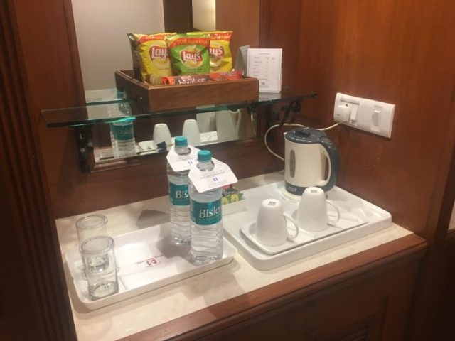 Mini bar at Jaypee Palace Hotel, Agra