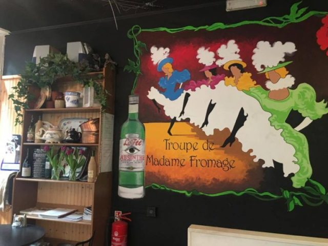 French decor in Madame Fromage, Cardiff