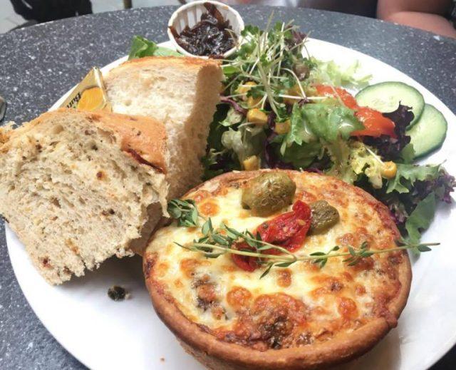 Feta, olive and sun-dried tomato tartlette