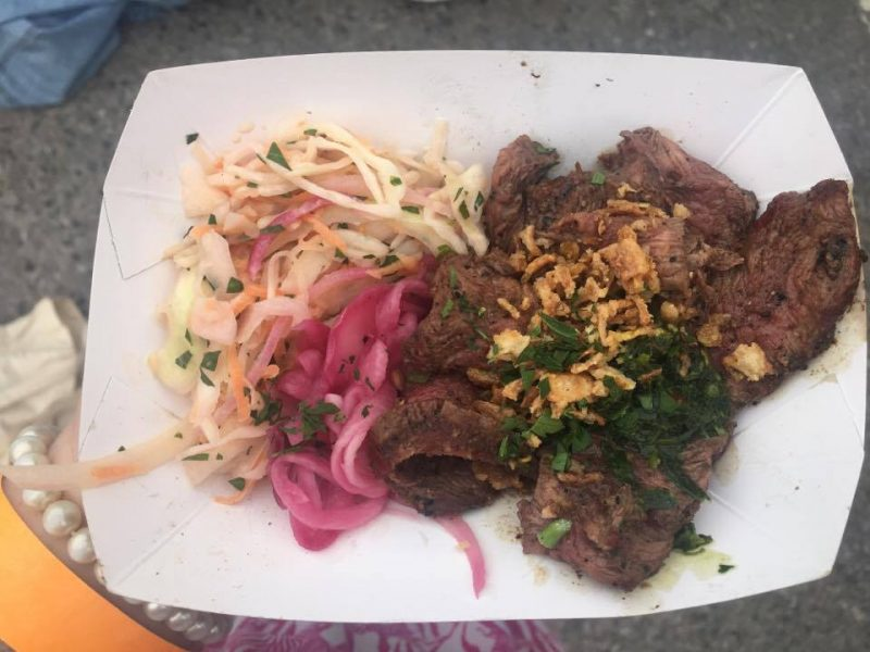 Chimichurri steak with slaw