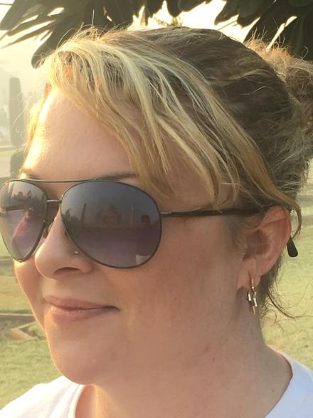 Taj Mahal reflection in sunglasses