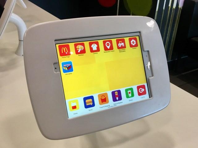 McDonalds digital tablet