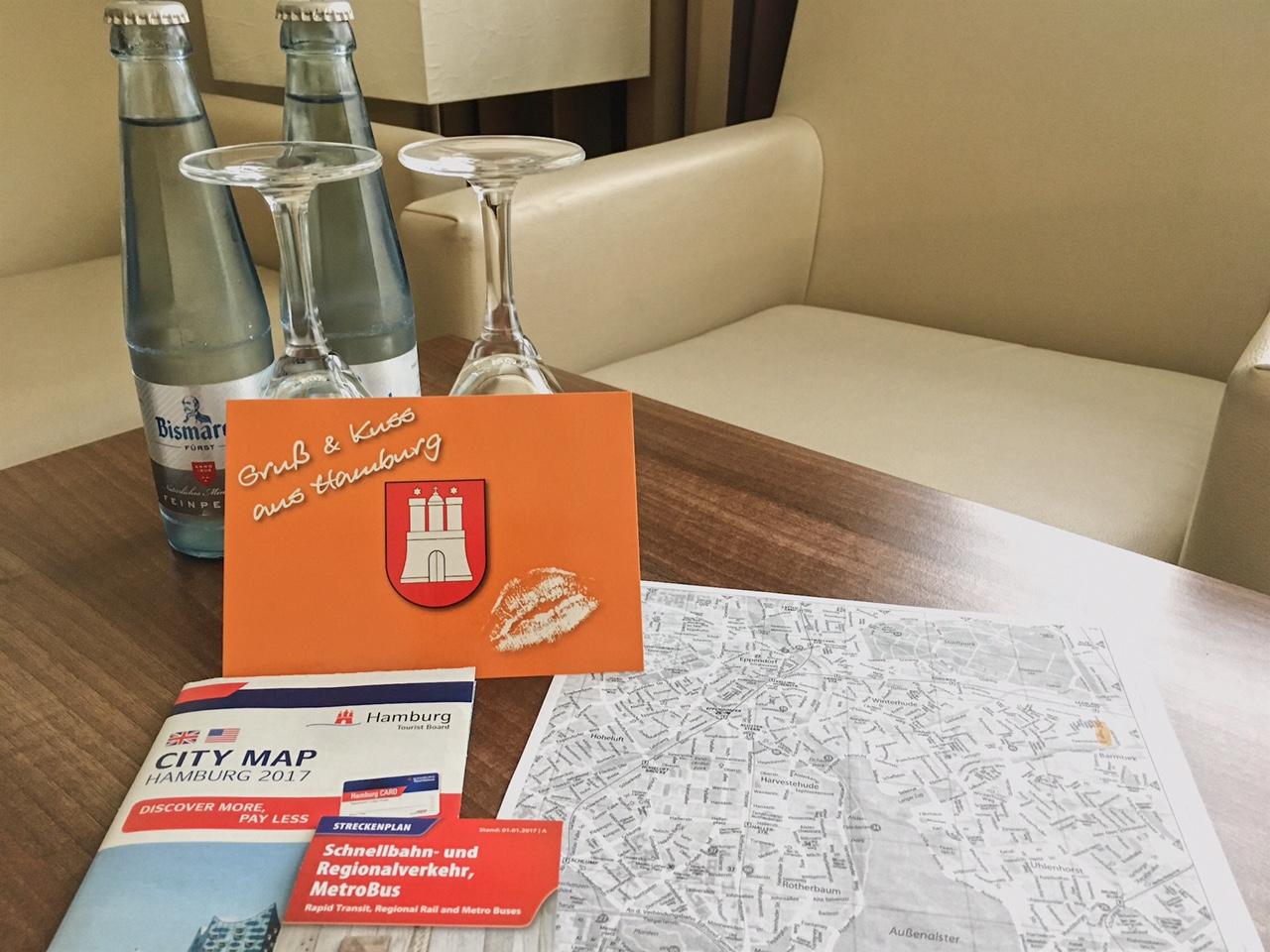 Hamburg hotel - Hotel Am Stadtpark: a warm welcome - maps, postcard, water