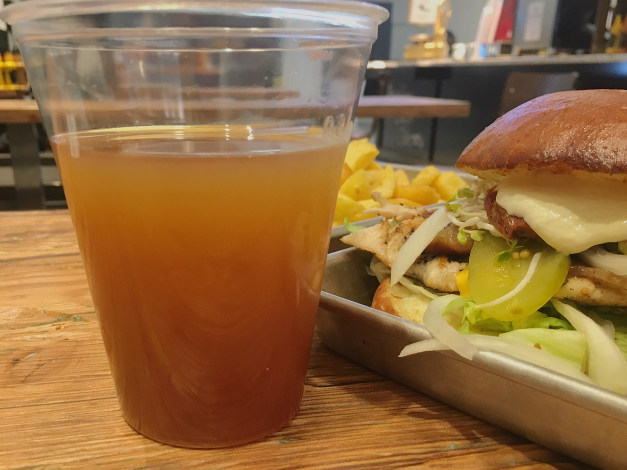 Iced tea at the Better Burger Company (Best places to eat in Hamburg)
