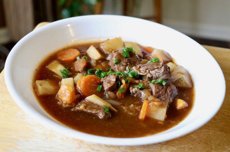 A bowl of Irish beef stew