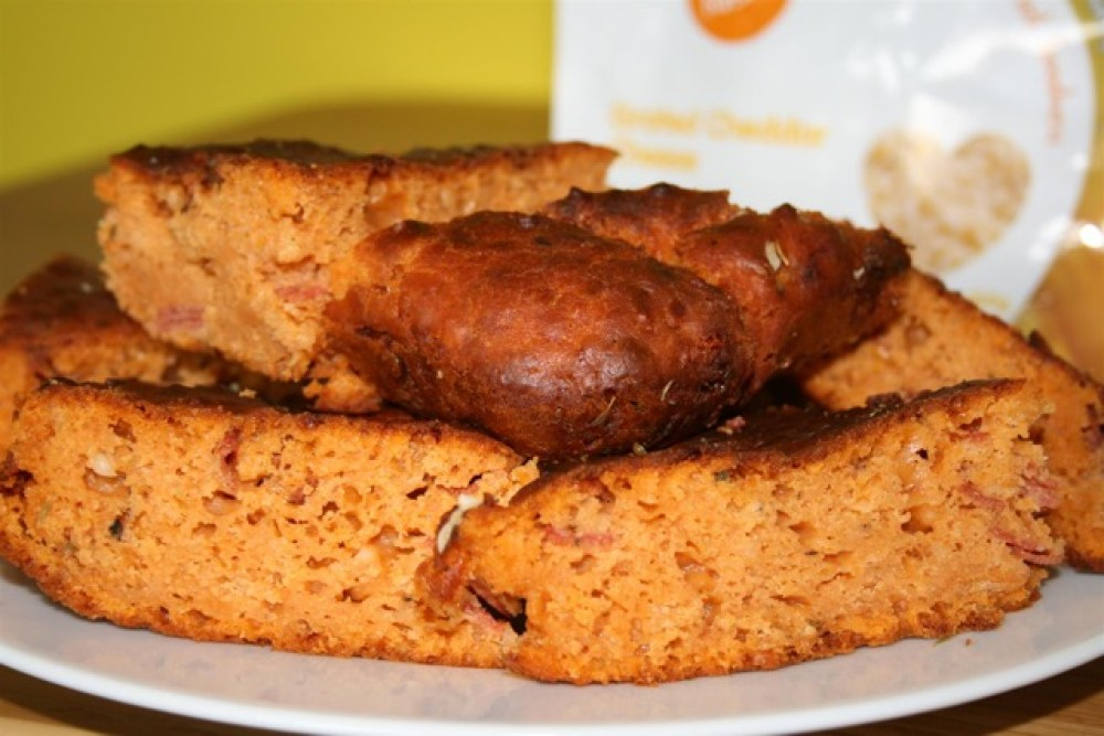 Cheesy Pepperoni Pizza Bread made using freeze-dried cheese