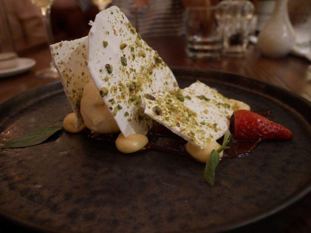 Strawberries and meringue at Llanerch Vineyard