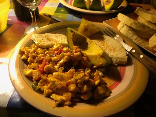 Ackee and saltfish, one of the most popular Caribbean foods
