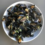 Welsh mussels with whiskey
