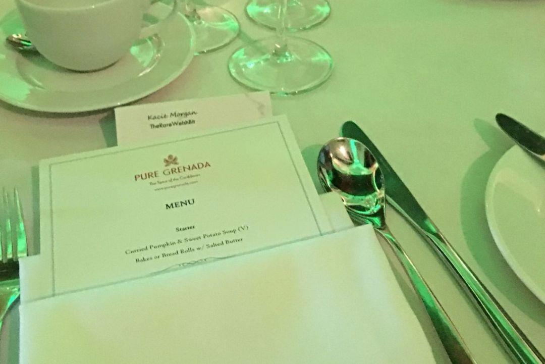 Table setting at Pure Grenada Awards 2018