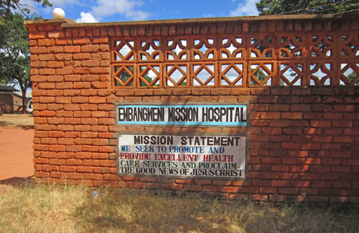 Embangweni Hospital sign
