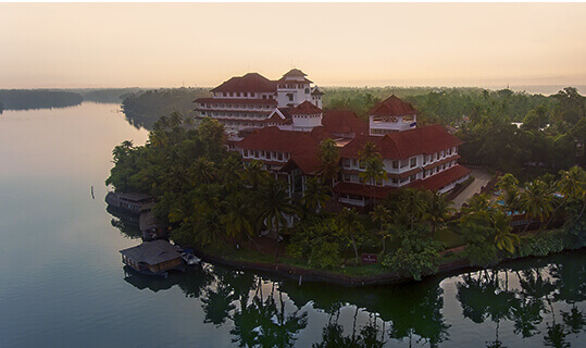 Aerial View - The Raviz Ashtamudi