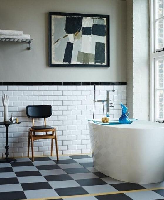 Desain Kamar Mandi Rumah Minimalis Batu Bata Putih