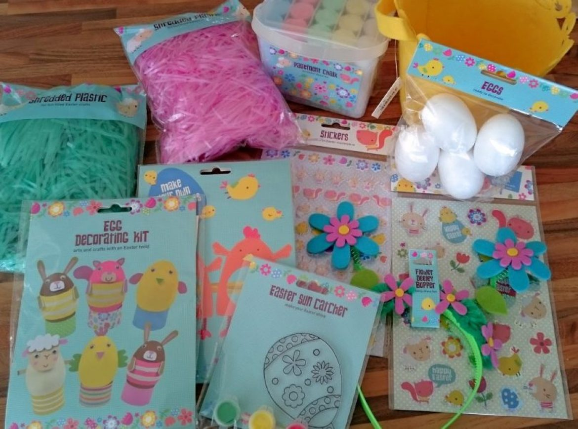 easter craft supplies from Asda