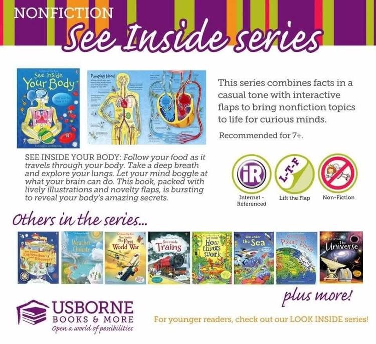 The differences between peek inside, look inside, and see inside books
