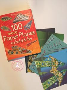 Fun with Paper Planes. Have some indoor fun with this activity! Learning with some extra fun! #thereadingscoop