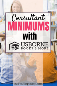 usborne consultant minimum requirements