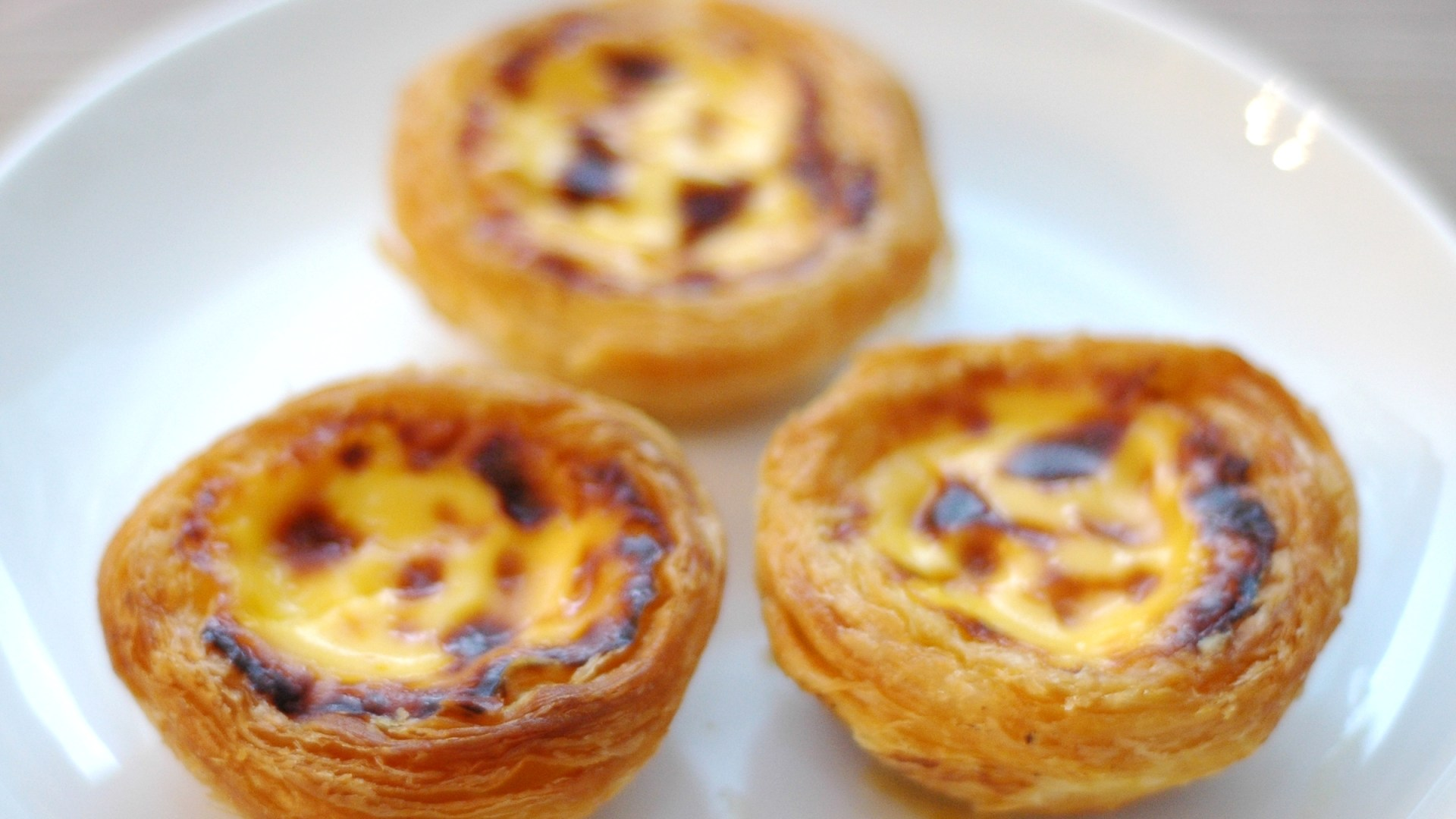 three natas on a white plate