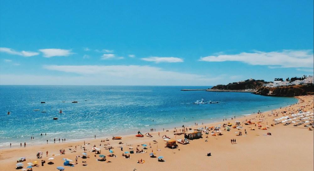 things to do in albufeira beach blue sea sky sun