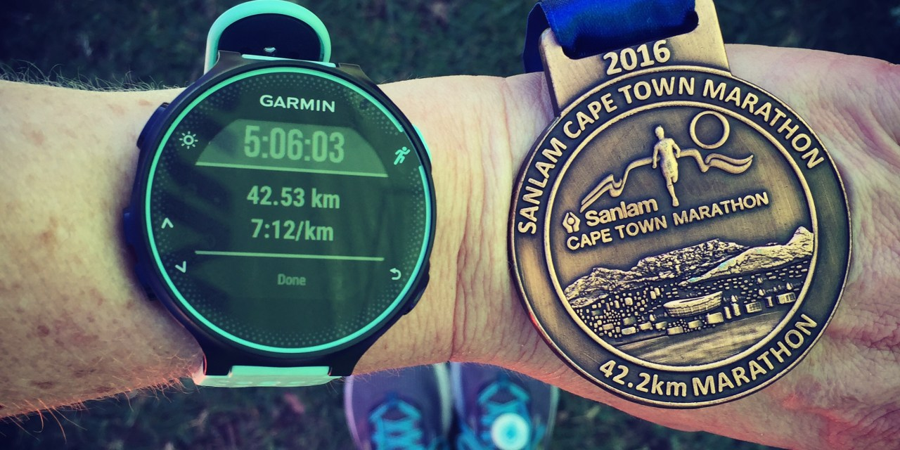 About running and finishing the Cape Town Marathon
