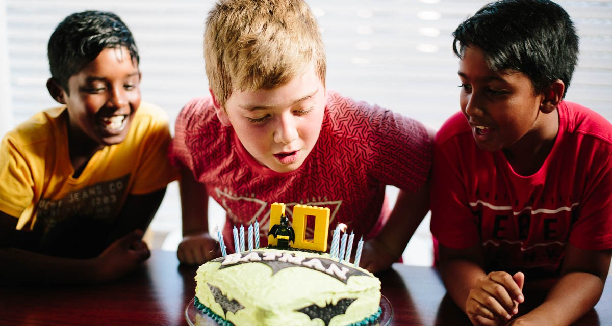 Connor's small 10th birthday celebration
