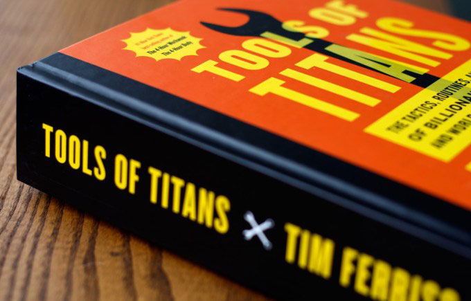SWEAT by SlimClip Case Tools-of-Titans-5 Motivational Books