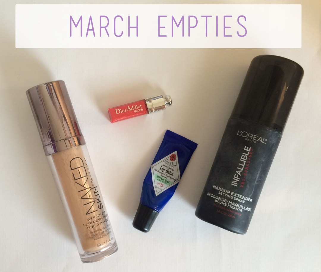 March Empties Overview | The Rebel Planner