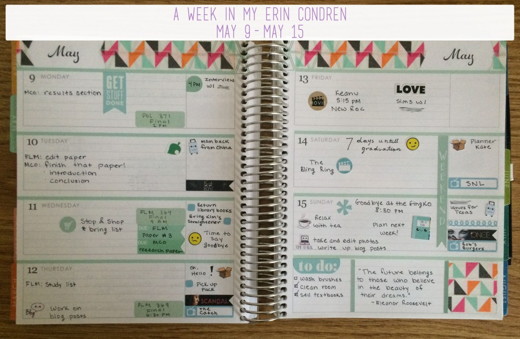 A Week in My Erin Condren May 9 - May 15 Overview | The Rebel Planner