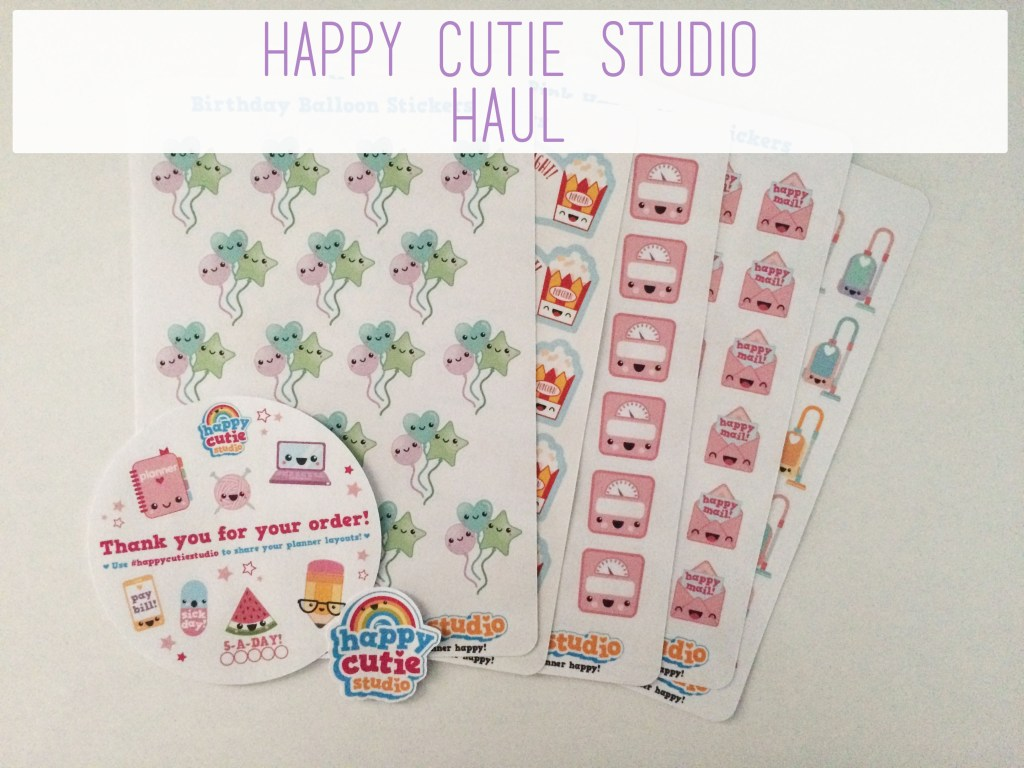 Happy Cutie Studio Haul | The Rebel Planner