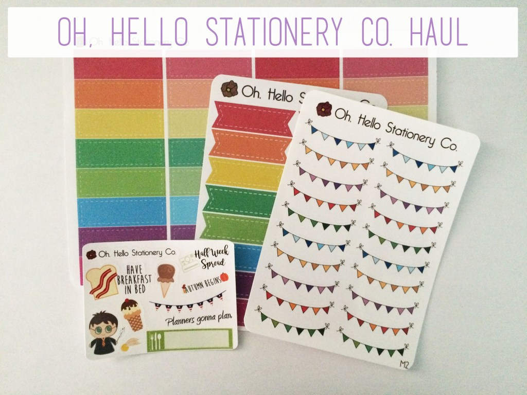 Oh, Hello Stationery Co Haul | The Rebel Planner