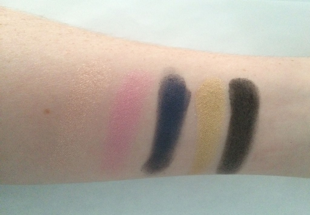 Swatches left to right: Pop, Harajuku, Danger, 1987, Blackout.