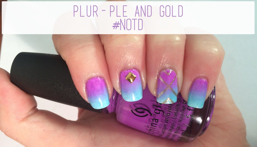 Plur-Ple and Gold #NOTD | The Rebel Planner