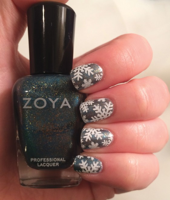 Zoya Crystal Snowflake #NOTD | The Rebel Planner