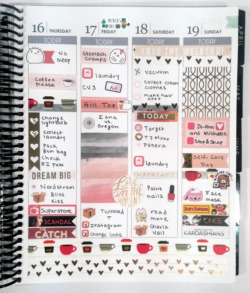 A Week in My Erin Condren: Peachy Happy Planner Spread