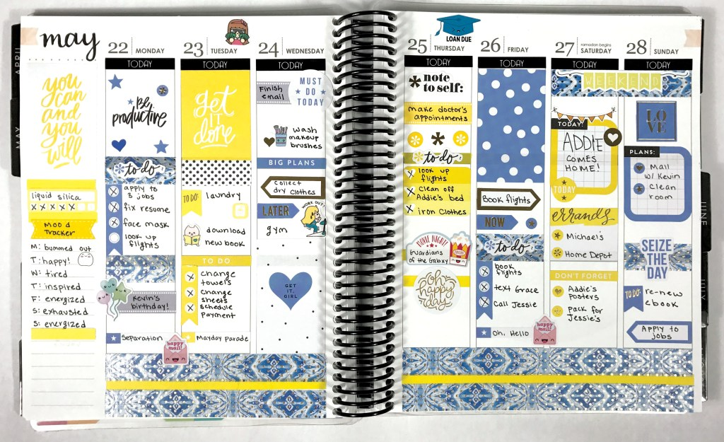 A Couple of Weeks in My Erin Condren: Catch Up Spreads | The Rebel Planner